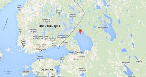 Остров Валаам на карте России