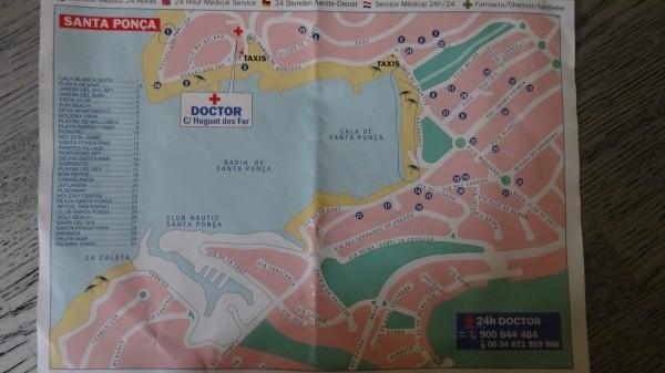 Санта Понса Майорка карта