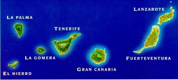 Канарские острова на карте мира отдых