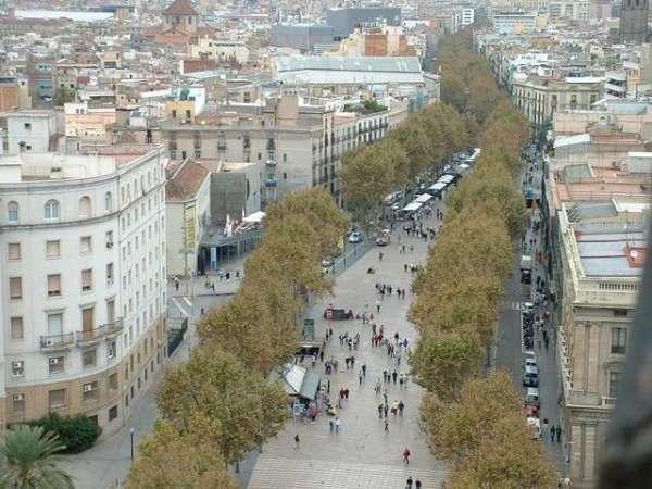 Бульвар Рамбла Барселона фото