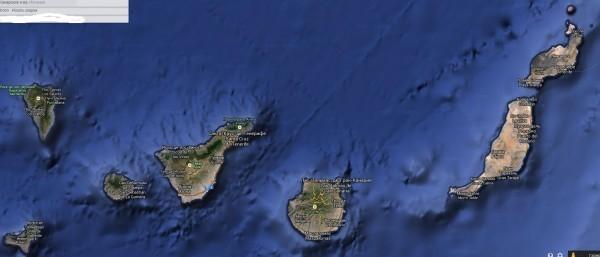 де канарские острова на карте мира