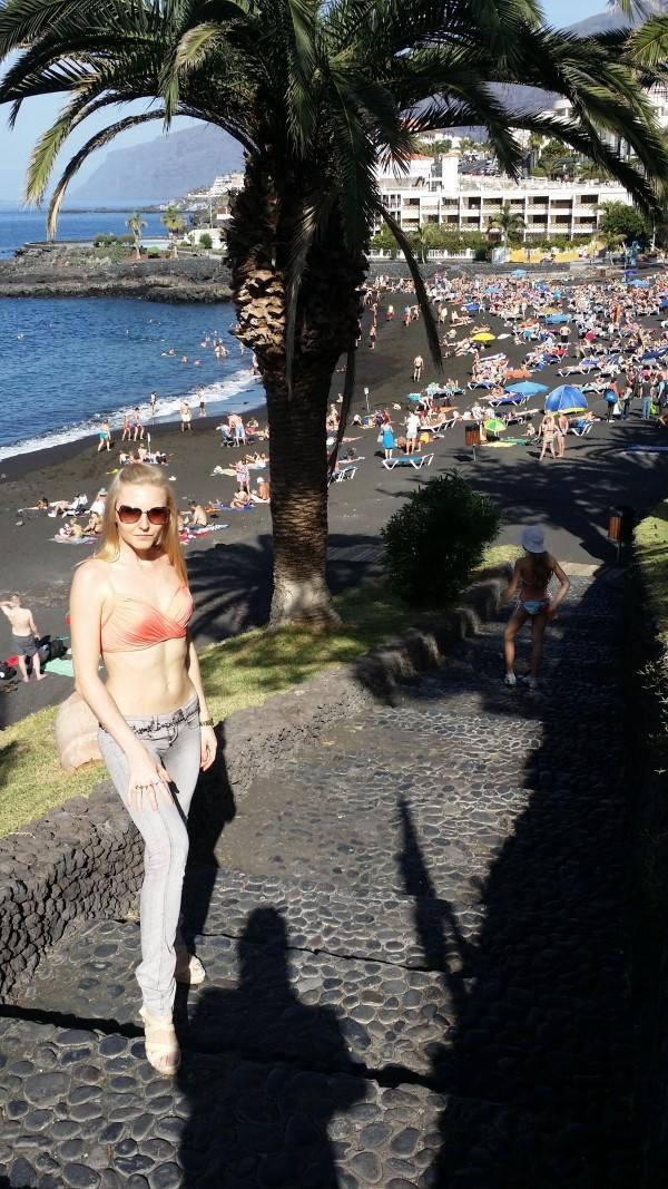 Тенерифе пляжи с черным песком