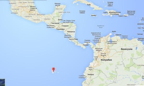 галапагосские острова на карте мира