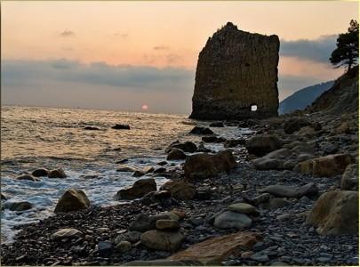 Джанхот фото пляжа и набережной