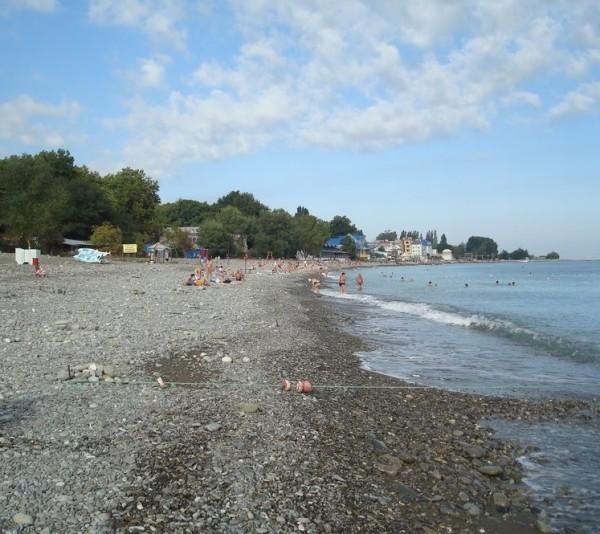 Пляж дома отдыха Колос фото