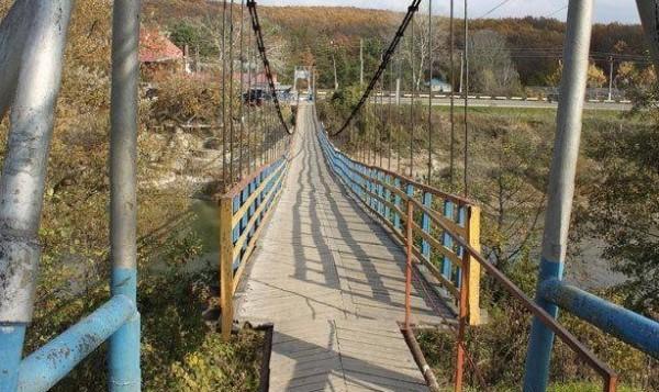 Висячий мост через Псекупс фото