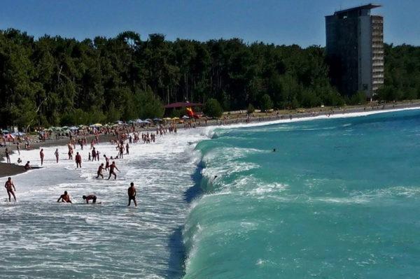 гагры фото города и пляжа