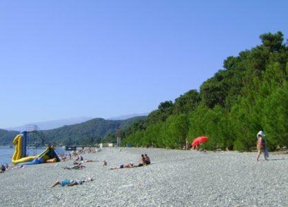 Поселок Лдзаа Абхазия частный сектор