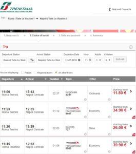 Италия поезда официальный сайт