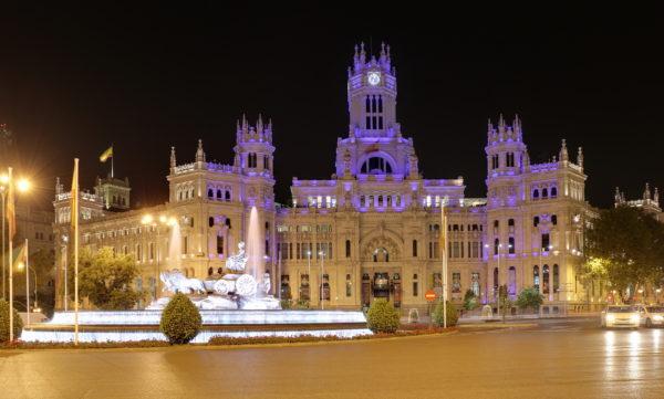 Дворец связи и смотровая площадка в Мадриде