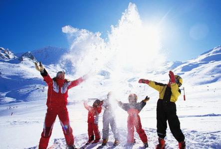 Новый год на горнолыжном курорте в России
