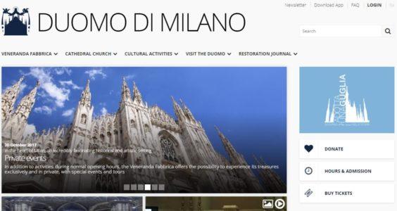 Дуомо Милан официальный сайт