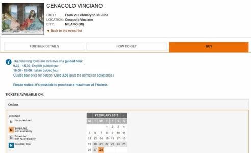 Тайная Вечеря Леонардо Да Винчи купить билеты официальный сайт